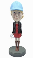 Custom Bobble Head Female Wearing Short Dress And Boots | Gifts For Women
