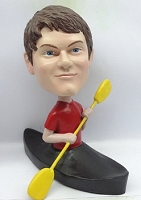 Man with Kayak custom bobblehead doll (bobbing doll)