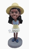 Custom Bobble Head Female Wearing Short Dress And Boots 3 | Gifts For Women