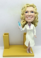 Custom Bobble Head Business Card Holder Custom Nurse |Female Nurse Bobble Head