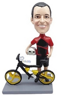 Man Bicycle-Rider custom bobblehead doll 4 (bobbing doll)