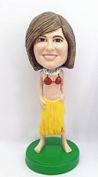 Custom Bobble Head Hawaiian Gal | Gifts For Women