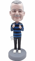 Casual Male in jeans custom bobblehead doll 3