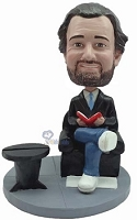 Executive custom bobblehead doll Business Card Holder