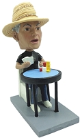 Poker Player personalized bobblehead doll