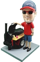 Master Griller Bbq Custom Bobble Head | Gift Ideas For Men