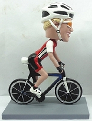 Man Bicycle-Rider custom bobblehead doll 3 (bobbing doll)