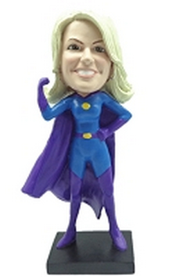 Custom Bobble Head Super Girl 2 Premium | Gifts For Women