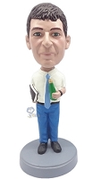 Man With Book And Bottle Custom Bobble Head | Gift Ideas For Men