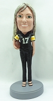 Female Football Player custom bobblehead doll