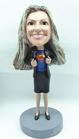 Custom Bobble Head Girl In Business Attire - Super Employee | Gifts For Women
