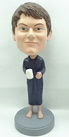 Male In Robe With Coffee Custom Bobble Head 2 | Gift Ideas For Men