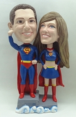 Wedding Couple Super Hero Custom Bobble Head | Gift Ideas For Couples