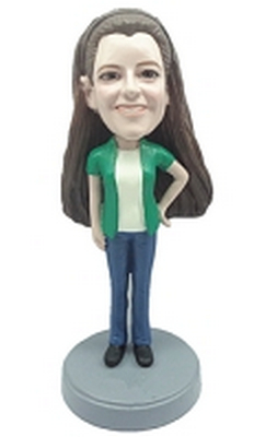 Casual Female custom bobblehead doll 3