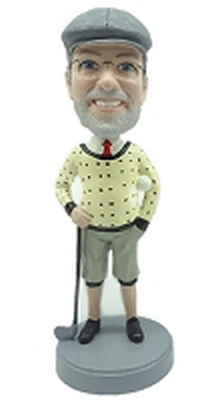 Classic Style Golfer Custom Bobble Head | Gift Ideas For Men