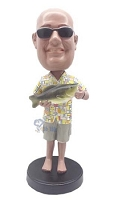 Man With Fish Custom Bobble Head 2 | Gift Ideas For Men