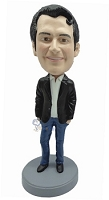 Casual Male in jeans custom bobblehead doll 5