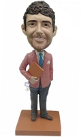 #1 Teacher (Male) Custom Bobble Head | Gift Ideas For Men