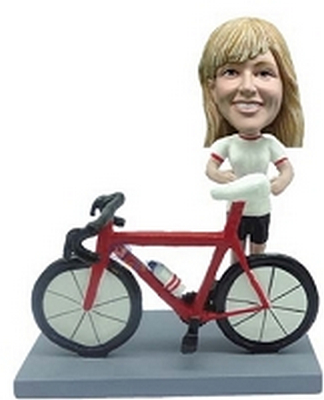 Custom bobble head Female Bicycle-Rider | Gifts for women