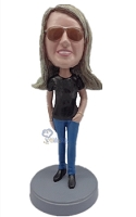 Custom Bobble Head Casual Female 8 | Gifts For Women