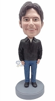 Casual custom bobblehead doll 9