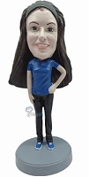 Custom Bobble Head Casual Female 9 | Gifts For Women
