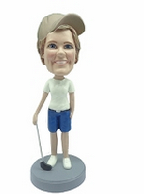 Golfer custom bobblehead doll 10 Female