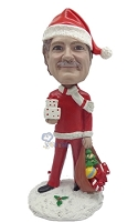 Santa With Toys Custom Bobble Head Premium | Gift ideas for men