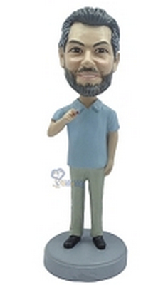 Casual custom bobblehead doll 12