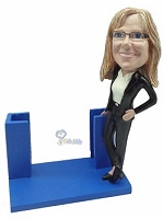 Custom Bobble Head Business Card Holder Bobble Head | Gifts For Female