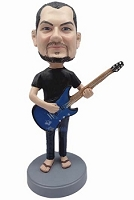 Male guitar player in sandals and jeans custom bobblehead doll