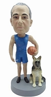 Basketball Player With Dog Custom Bobble Head | Gift Ideas For Men