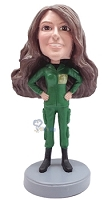 Custom Bobble Head Military Female | Gifts For Women