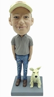 Man With Dog Custom Bobble Head | Gift Ideas For Men
