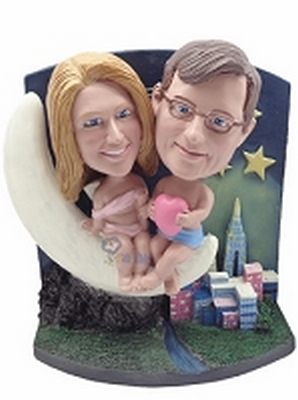 Moonlight-Cupid Couple Custom Bobble Head | Gift Ideas