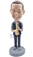 Saxophone Custom Bobble Head 3 | Gift Ideas For Men