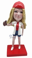 Custom Bobble Head Baseball Gal | Gifts For Women