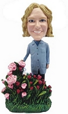 Custom Bobble Head Nice Women With Flowers Personalized Bobble Head2 | Gifts For Women