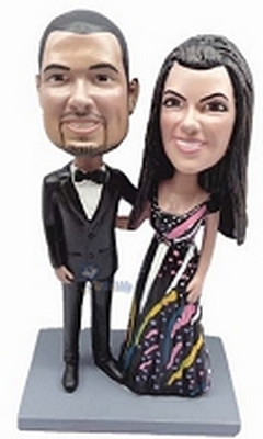 Dressed Up Couple Custom Bobble Head | Gift Ideas For Couples