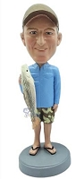 Man With Fish Custom Bobble Head 4 | Gift Ideas For Men