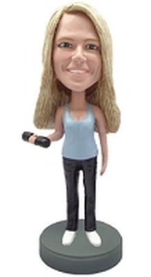 Custom Bobble Head Weights With Female | Gifts For Women