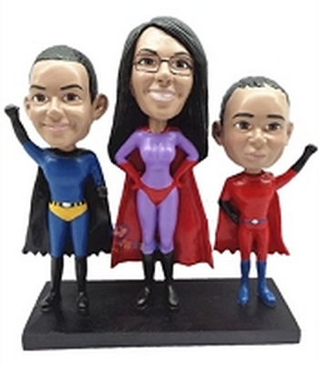 3 Superhero Custom Bobble Head | Gift Ideas For Couples
