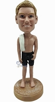 Male In Bathing Suit Custom Bobble Head | Gift Ideas For Men