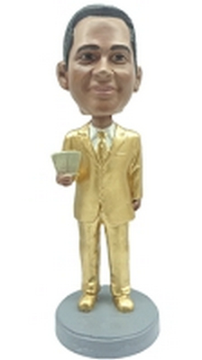 Custom Bobble Head Man With Money | Gift Ideas For Men