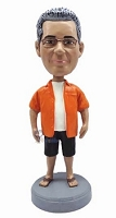 Man In Shorts And Sandals Custom Bobble Head | Gift Ideas For Men
