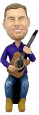 Sitting With Guitar Custom Bobble Head | Gift Ideas For Men