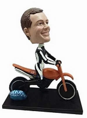 Man on Dirt Bike custom bobblehead doll 2 (bobbing doll)