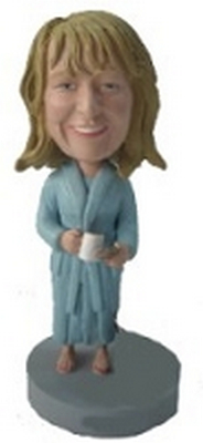 Mom with milk and cookies custom bobblehead doll