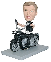 Motorcycle Man custom bobblehead doll (bobbing doll)