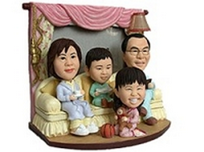 Family Of 4 Custom Bobble Head | Gift Ideas